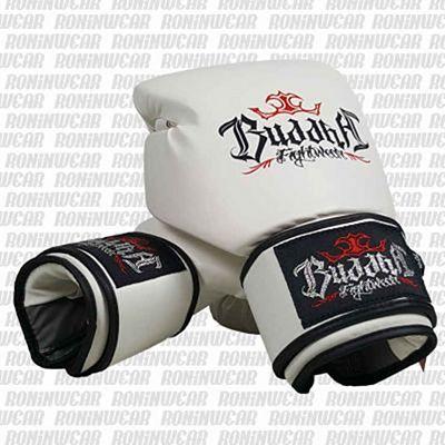 Buddha Fight Boxing Gloves Bianco