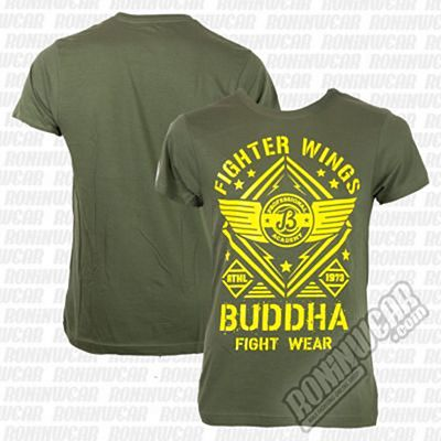 Buddha Fighter Wings T-shirt