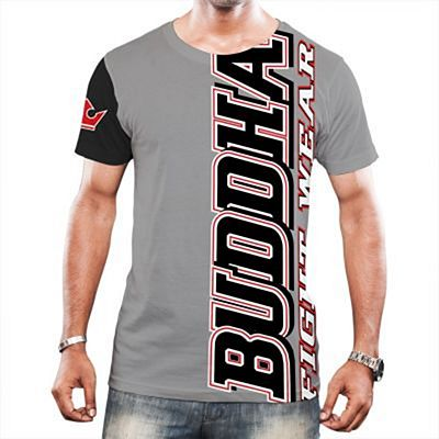 Buddha Fighter X T-shirt Grey-Black
