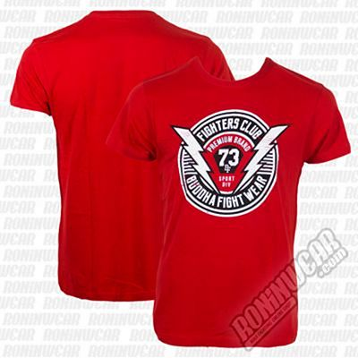 Buddha Fighters Club T-shirt Rojo