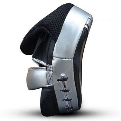 Buddha Future Leather Focus Mitts Black-Silver