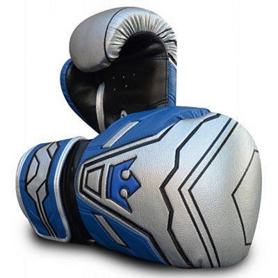 Buddha Future Silver Boxing Gloves Silver-Blue