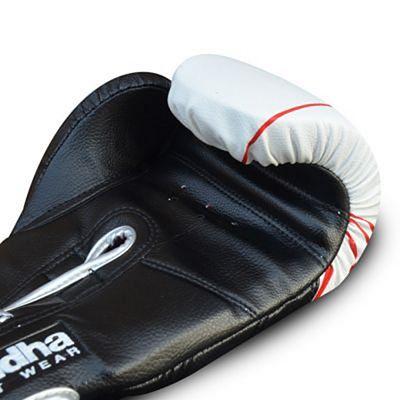 Buddha Future Silver Boxing Gloves Weiß-Schwarz