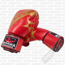 Buddha Golden Boxing Gloves Red