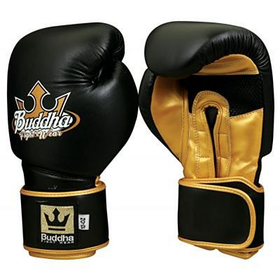 Buddha Professional Boxing Gloves Black-Gold