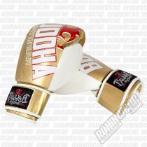 Buddha Millenium Boxing Gloves Gold-weiß