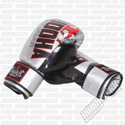 Buddha Millenium Boxing Gloves Silver-Black