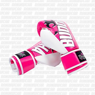 Buddha Millenium Kids Boxing Gloves Rosa-Branco
