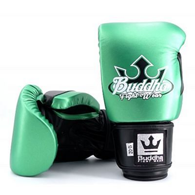 Buddha Millenium Metallic Boxing Gloves Green