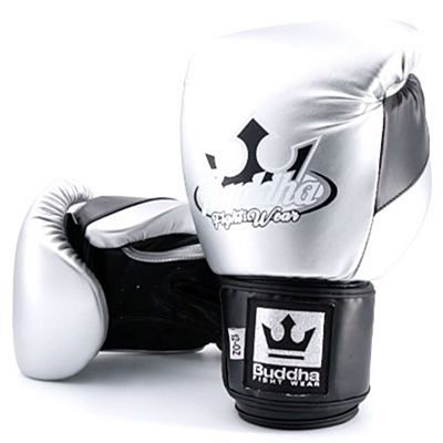 Buddha Millenium Metallic Boxing Gloves Silver