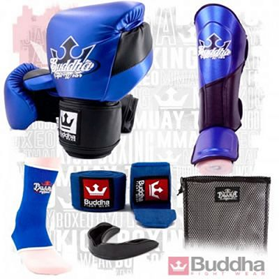 Buddha Millenium Metallic Kickboxing Starter Pack Blue-Black