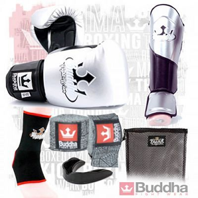 Buddha Millenium Metallic Kickboxing Starter Pack Prateado-Preto