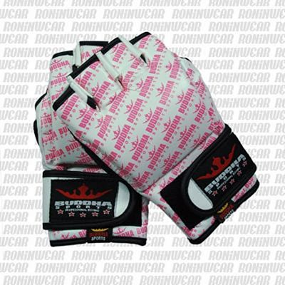 Buddha MMA Gloves White-Pink