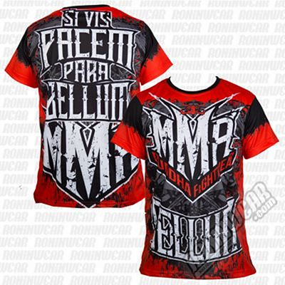 Buddha MMA Resurrection Tee Red-White