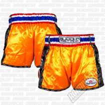 Buddha Muay Thai Shorts Retro Orange