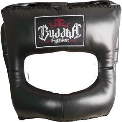Buddha Nose Protection Leather Headgear Black