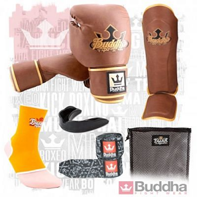 Buddha Pack Kickboxing Iniciacion Old School Marron