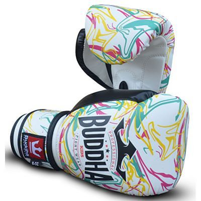 Buddha Pikachu Kids Boxing Gloves White