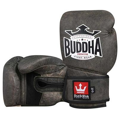 Buddha Platinum Premium Leather Boxing Gloves Brown