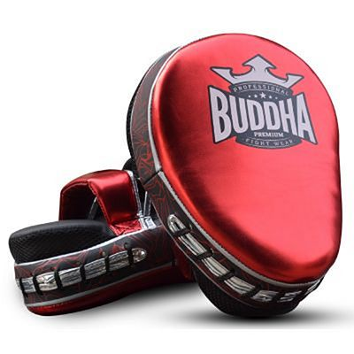 Buddha Premium Curved Focus Mitts Red