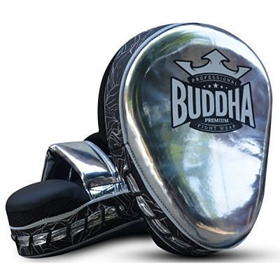 Buddha Premium Curved Focus Mitts Silver