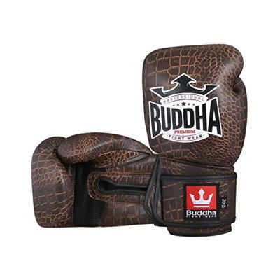 Buddha Premium Snake Leather Boxing Gloves Brown