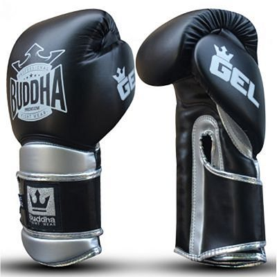Buddha Pro Gel Boxing Gloves Black