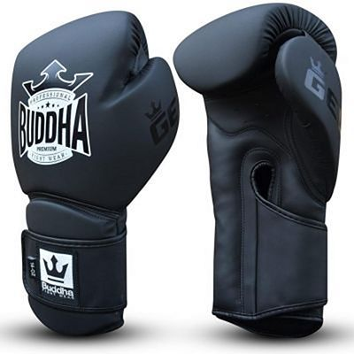 Buddha Pro Gel Boxing Gloves Black-Black