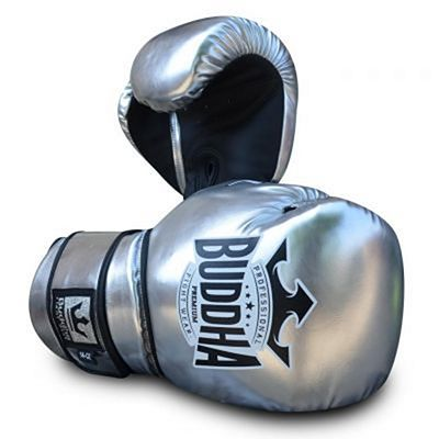 Buddha Pro Gel Boxing Gloves Silver