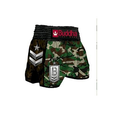 Buddha Retro Army Classic Muay Thai Shorts Green