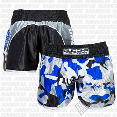 Buddha Retro Army Muay Thai Shorts Black