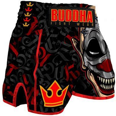 Buddha Retro Crown Muay Thai Short Nero