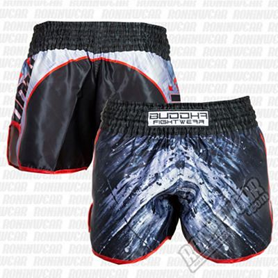 Buddha Retro Dark Muay Thai Shorts Negro