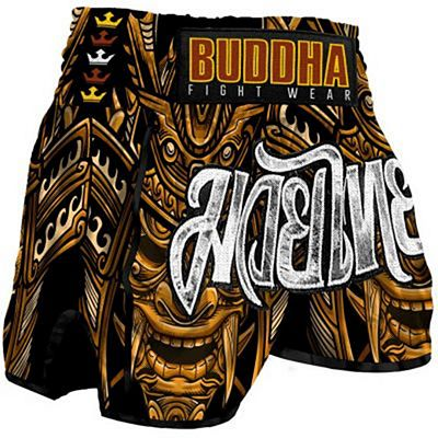 Buddha Retro Inca Muay Thai Shorts Brown