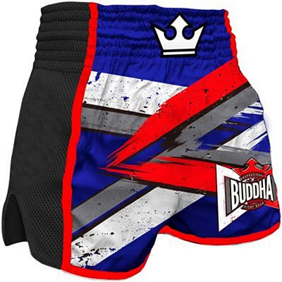 Buddha Retro Infinity Muay Thai Shorts Black-Blue