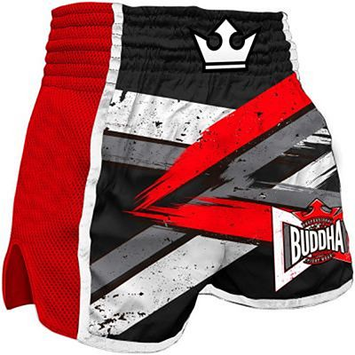 Buddha Retro Infinity Muay Thai Shorts Red-Black
