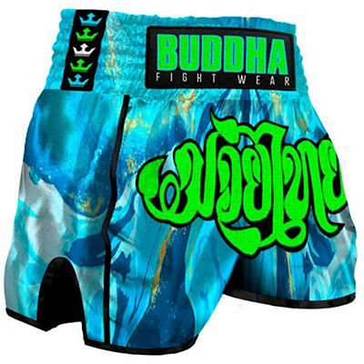 Buddha Retro Ocean Muay Thai Shorts Light Blue