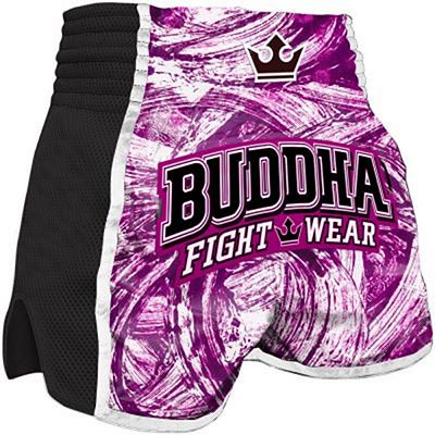 Buddha Retro Princess Muay Thai Shorts Rosa