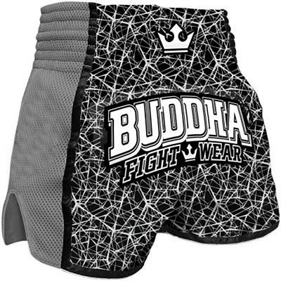 Buddha Retro Special Galactic Muay Thai Shorts Black-Grey