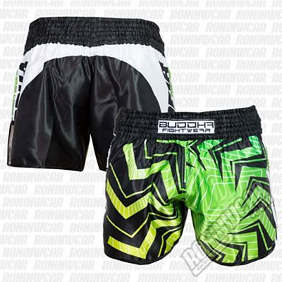 Buddha Retro Spider Muay Thai Shorts Negro