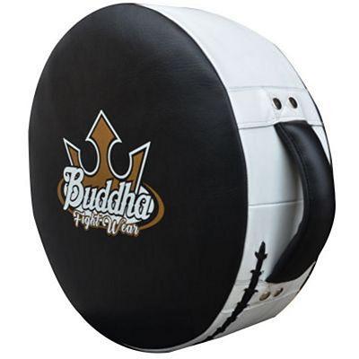 Buddha Round Shield Leather Black-White