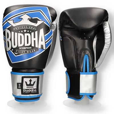 Buddha Scorpion Boxing Gloves Black-Blue
