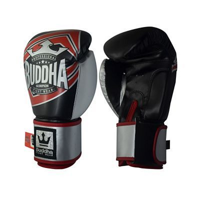 Buddha Scorpion Boxing Gloves Black-Red