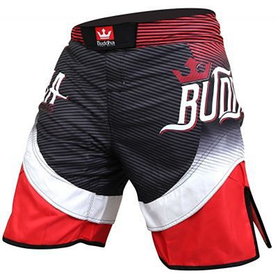 Buddha Short MMA Fighter Black-Red