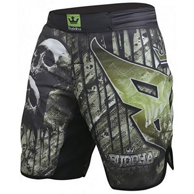 Buddha Short MMA Skull Black-Green