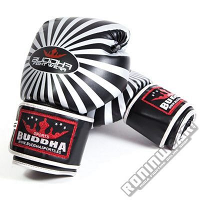 Buddha Silver Boxing Gloves Negro-Gris