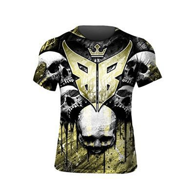 Buddha Skulls T-shirt Yellow-Black