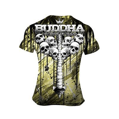 Buddha Skulls T-shirt Giallo-Nero