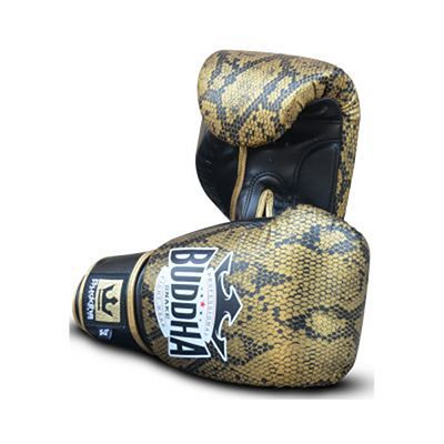 Buddha Snake Boxing Gloves Black-Gold
