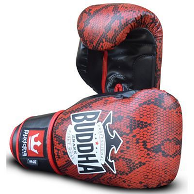 Buddha Snake Boxing Gloves Red-Black